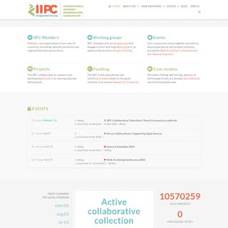 INTERNATIONAL INTERNET PRESERVATION CONSORTIUM - IIPC