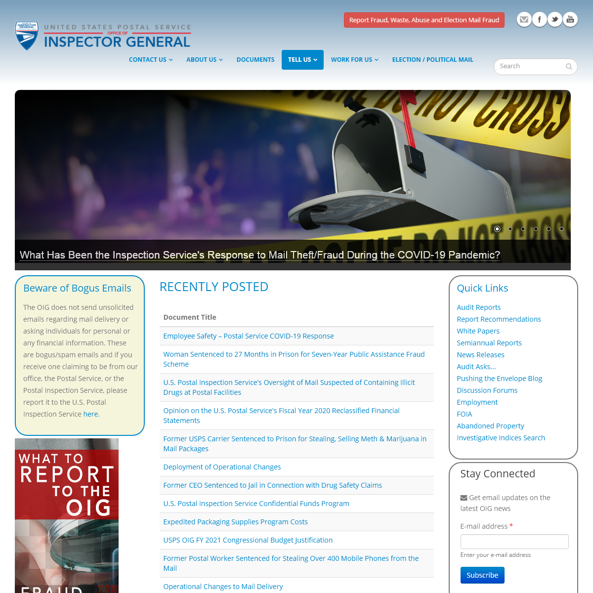 Home Page - USPS Office of Inspector General