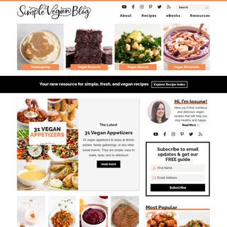 Simple Healthy Vegan Recipes - Simple Vegan Blog