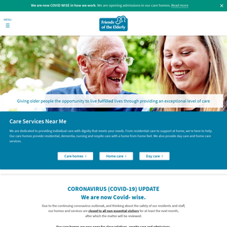 Care Services Near Me In The UK - Friends of the Elderly