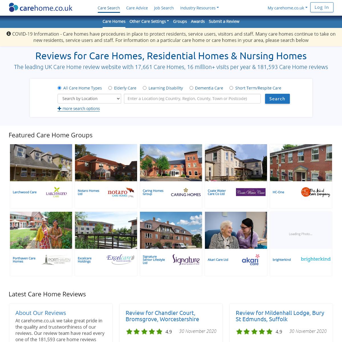 Care Homes & Nursing Homes UK – Care Home Reviews & Nursing Home Reviews