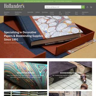 Hollander`s - Decorative Papers, Bookbinding Supplies, & Workshops