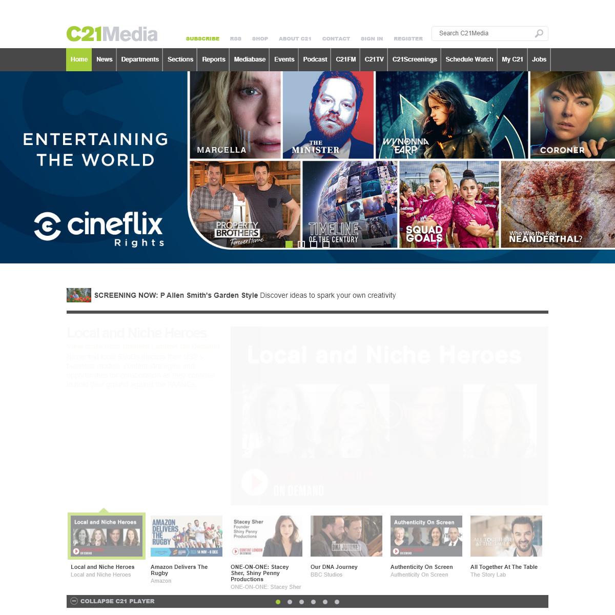 C21Media - Home to the International Entertainment Community