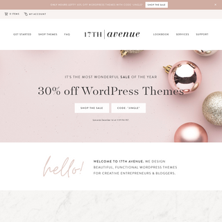 17th Avenue · Feminine WordPress Themes