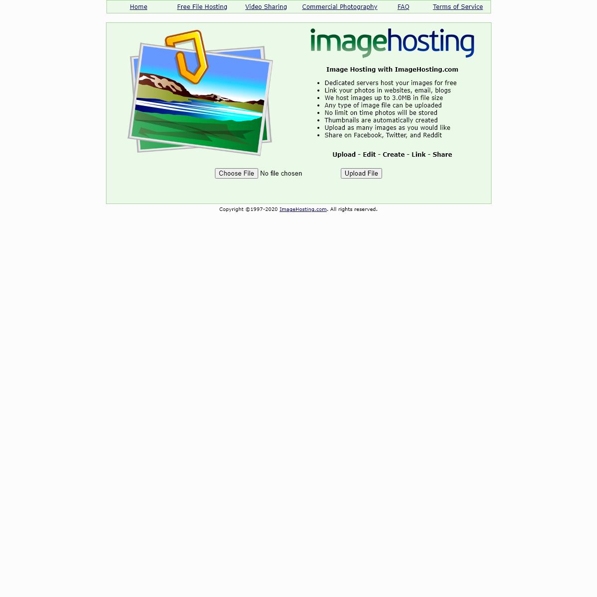 Image Hosting - ImageHosting.com