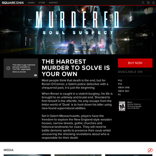 SQUARE ENIX - Games - Murdered