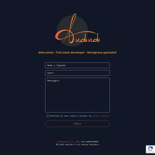Andindi.it • Web solver • Full stack developer • Wordpress specialist