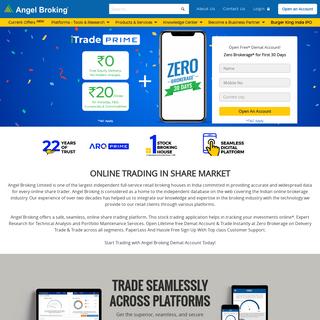 Online Trading & Stock Broking in India - Angel Broking