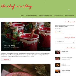 the Chef Mimi Blog – so much food, so little time…