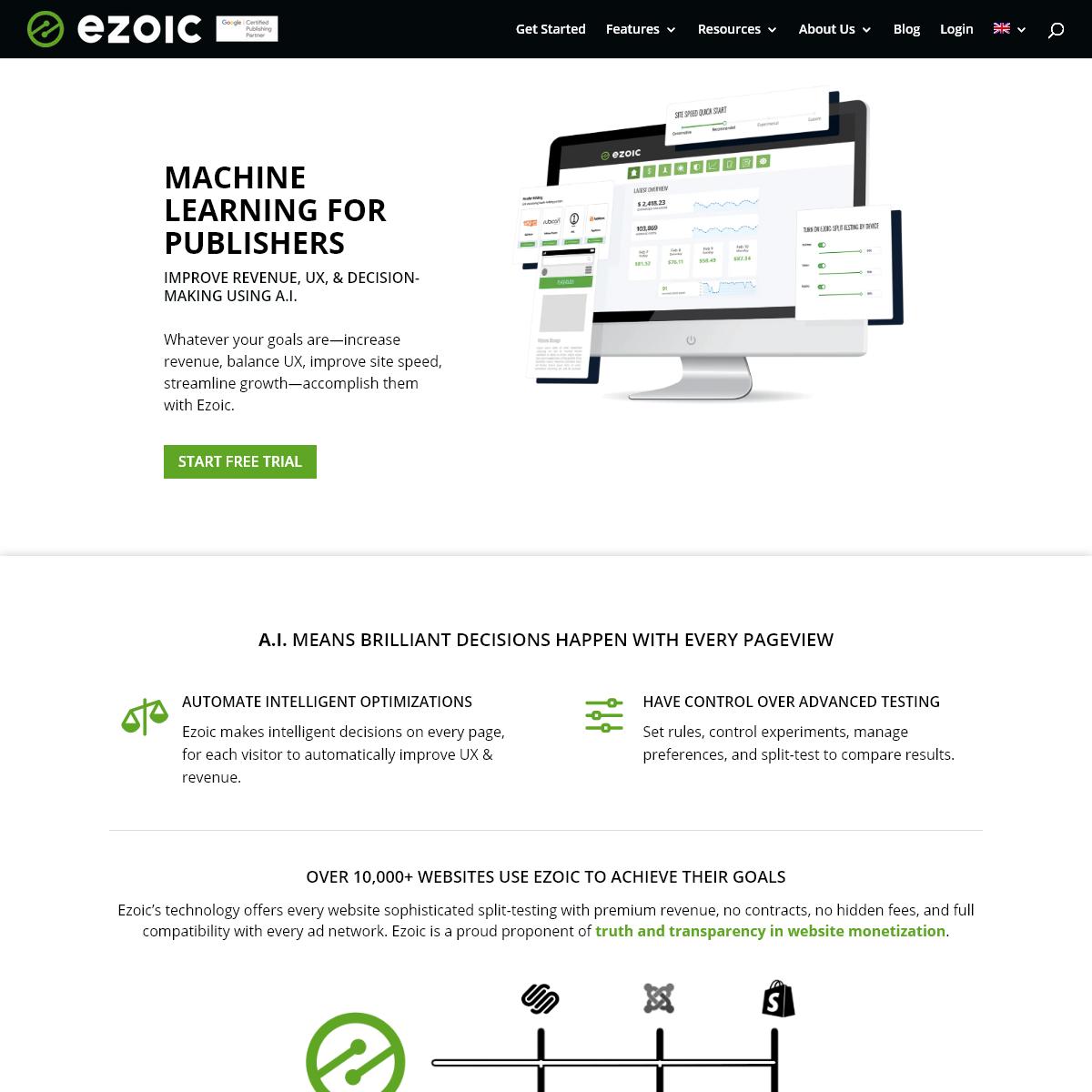 Ezoic - An Intelligent Platform Built For Publishers