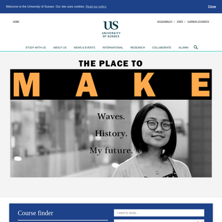 University of Sussex - a leading, research-intensive university