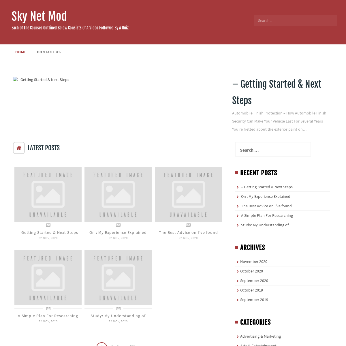 Sky Net Mod – Each Of The Courses Outlined Below Consists Of A Video Followed By A Quiz