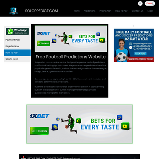 Welcome To SoloPredict - SOLOPREDICT.COM