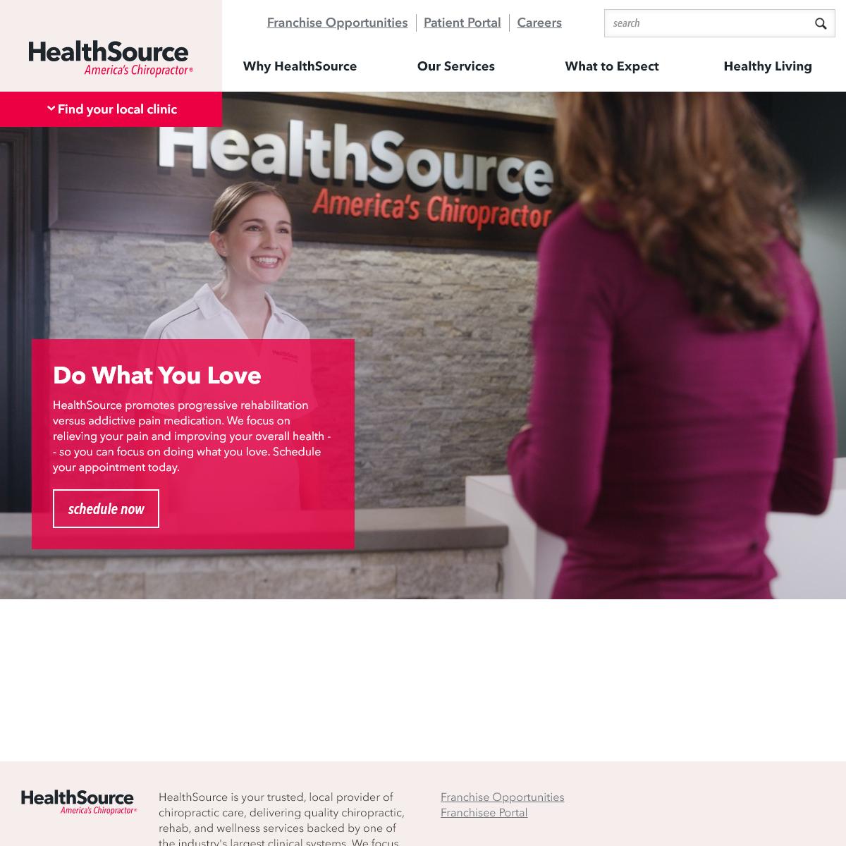 HealthSource Chiropractic - America's Chiropractor