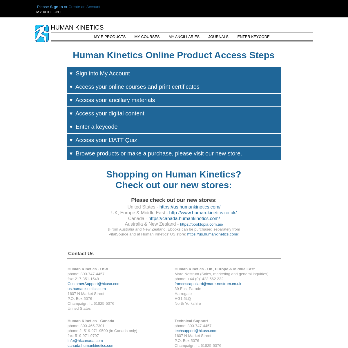 Human Kinetics – Physical Activity and Health Publisher