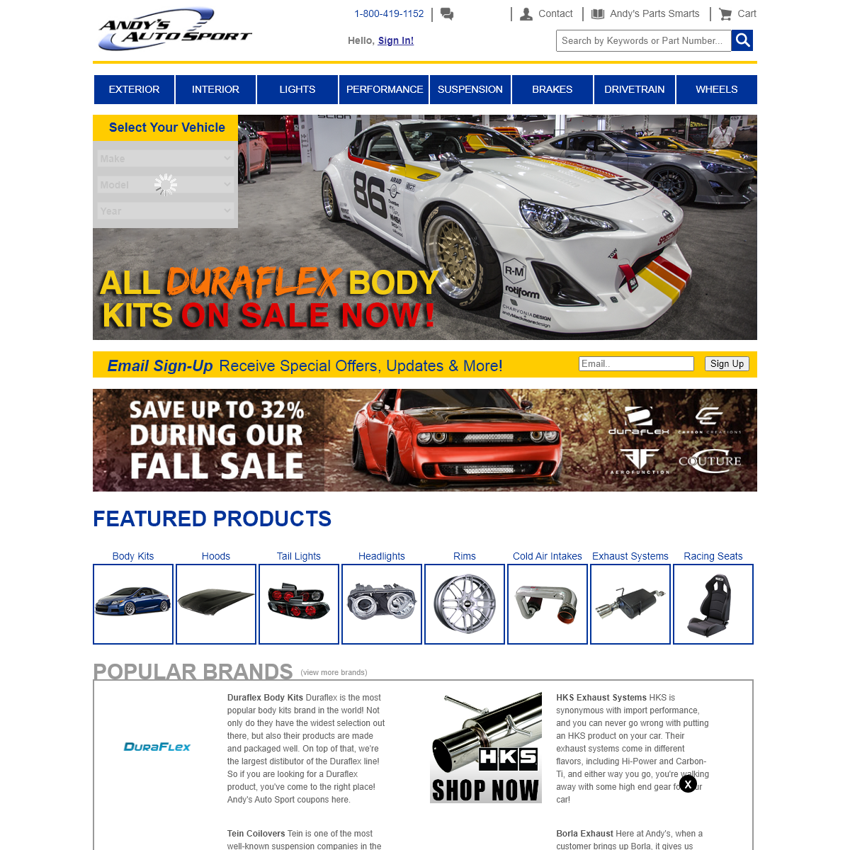 Andy`s Auto Sport - Automotive Accessories and Performance Parts