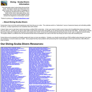 Diving-SCUBA Divers PADI-worldwide information-Learn to dive.