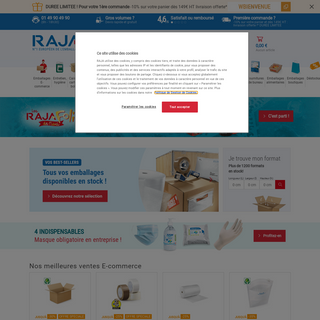 RAJA - Emballages, cartons, équipements, fournitures, hygiène