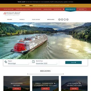 Mississippi River Cruises - American River Cruises - AQSC