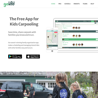 GoKid - The Best Carpool App for Family Organization - Rideshare app for kidsGoKid