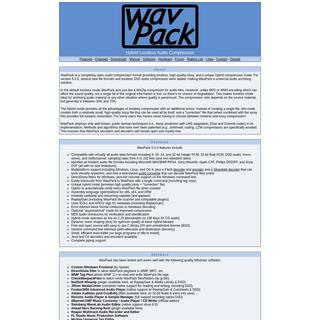 WavPack Audio Compression