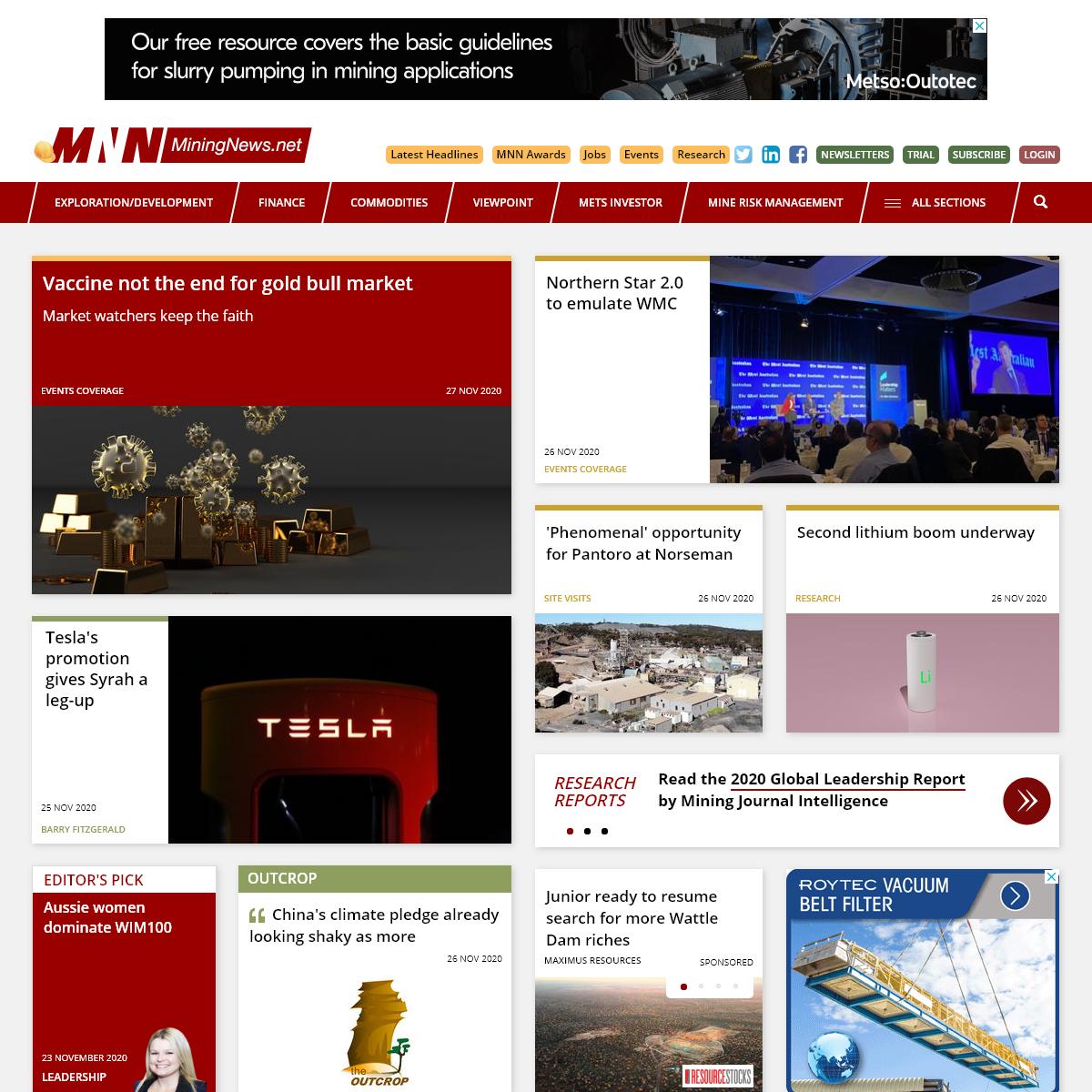 Mining Investment and Finance News- MiningNews.net