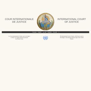 Cour internationale de Justice - International Court of Justice - International Court of Justice
