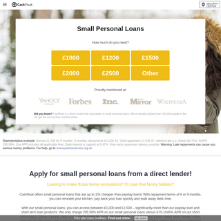 Small Personal Loans from a Direct Lender - Cashfloat