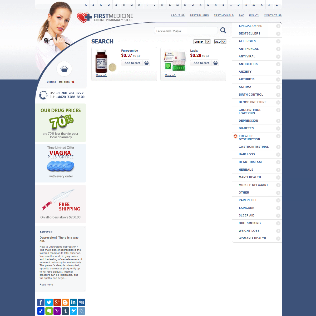 Buy Furosemide 20 Mg Tablets