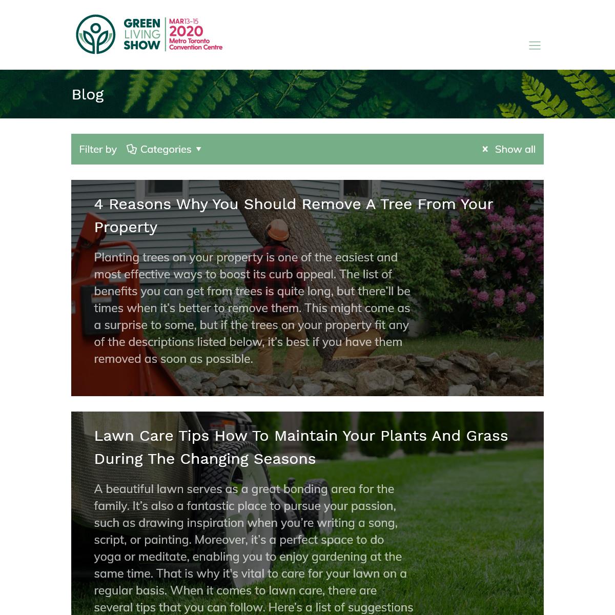 Blog – Green Living Show