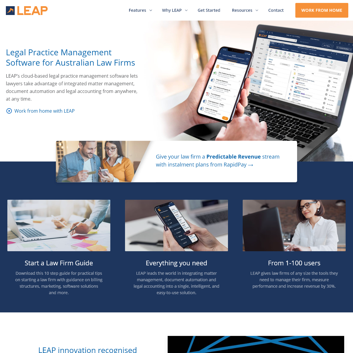 Legal Practice Management Software - LEAP Legal Software Australia