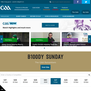 GAA.ie - GAA Match Video and Highlights, Fixtures and Results, Latest News