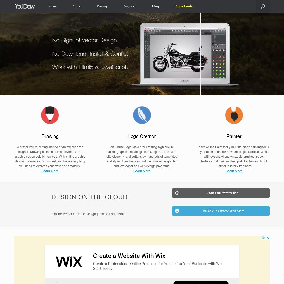 YouiDraw, Online Vector Graphic Design, Drawing Online Logo Maker.