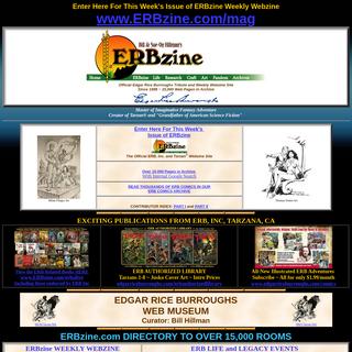 ERBzine- Edgar Rice Burroughs Web Museum and Weekly Online Fanzine