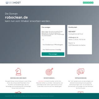 Die Domain roboclean.de kann nun vom Inhaber erworben werden.