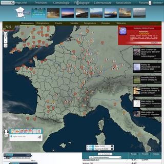 Infoclimat - la météo en temps réel - observations météo en direct, prévisions, archives climatologiques, photos et vidéo
