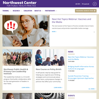 Northwest Center for Public Health Practice - Public Health Training, Research, and Evaluation for the Northwest