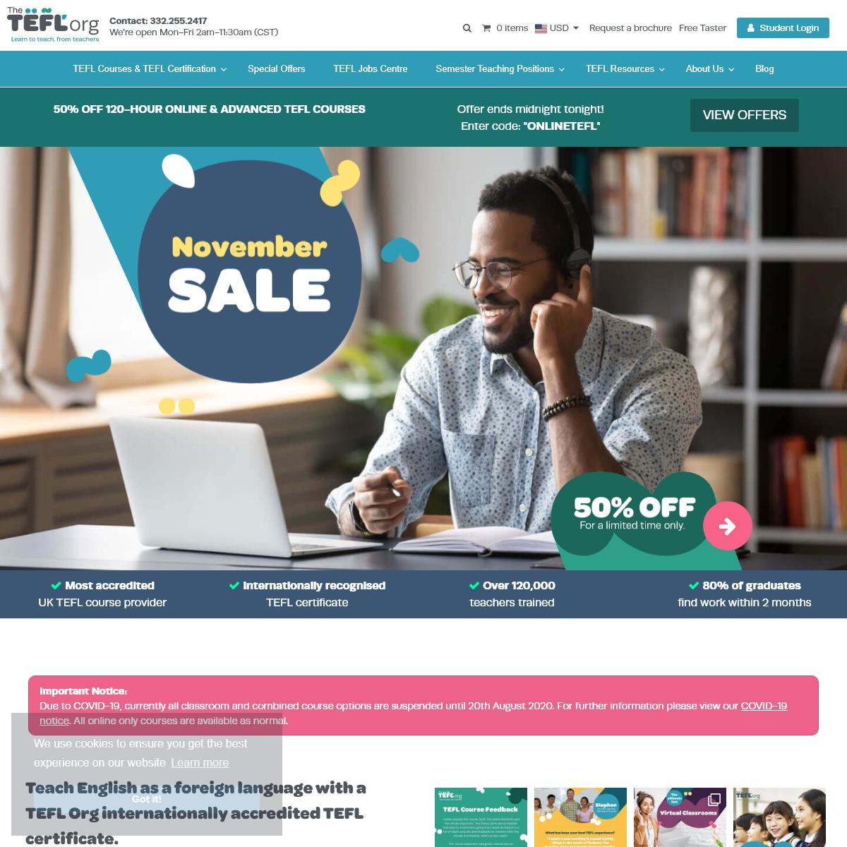 TEFL Org - Accredited TEFL Certification - Jobs Worldwide