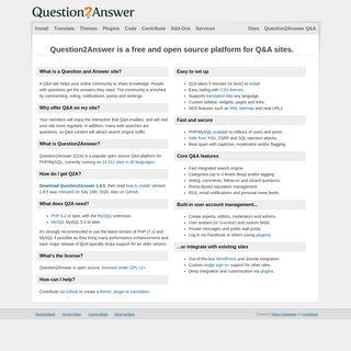Question2Answer - Free Open Source Q&A Software for PHP