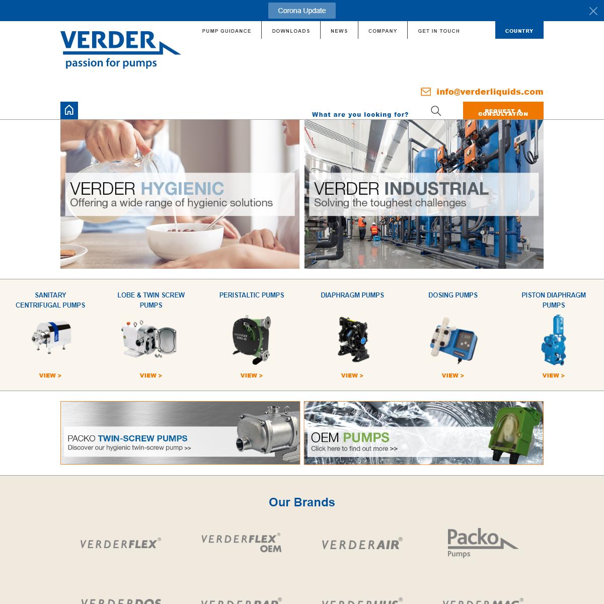 Industrial Pump Solutions - Manufacturer - Verderliquids