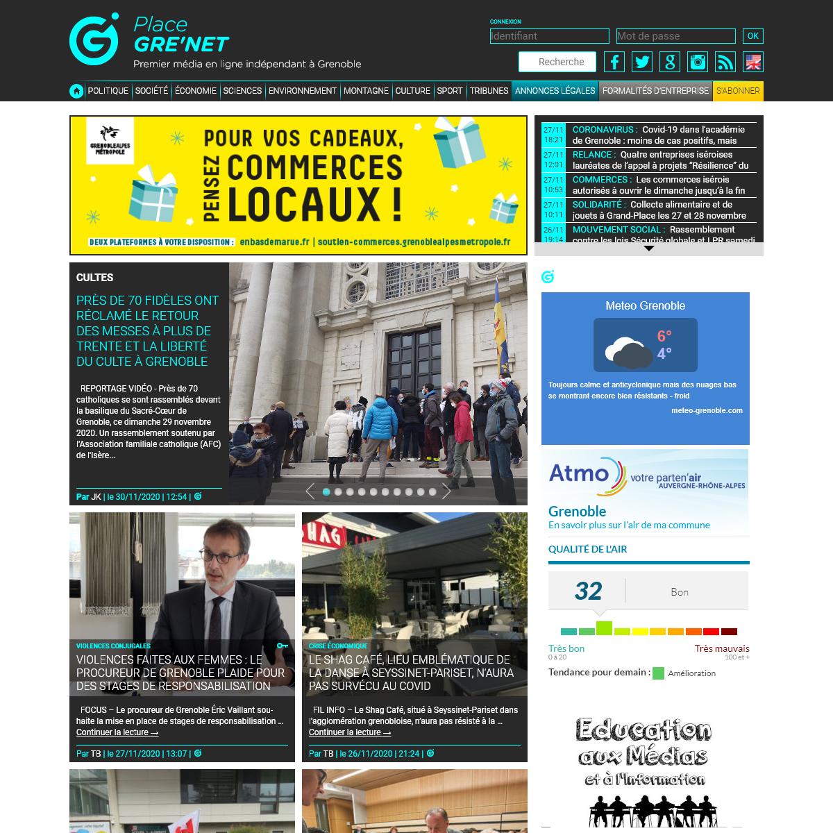 Place Gre`net - Premier média en ligne de la région grenobloise