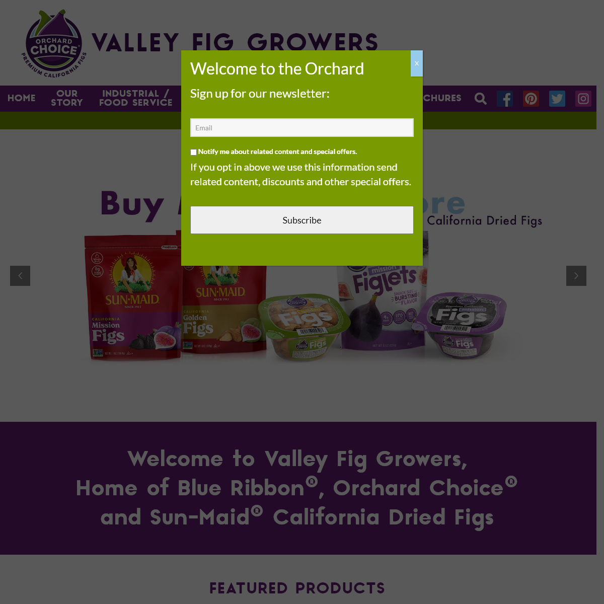 California Figs - California Dried Figs - Valley Fig Growers
