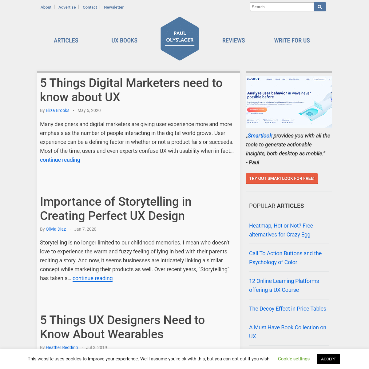 Paul Olyslager » Articles & Reviews on Web Design, User Experience and Usability