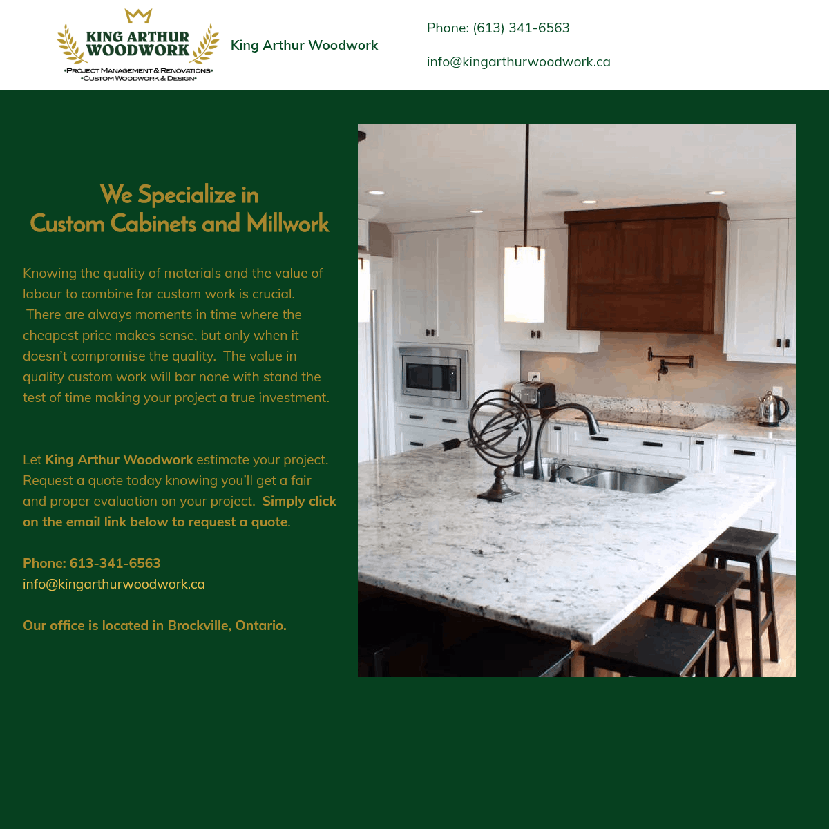 King Arthur Woodwork - Custom Cabinets and Millwork