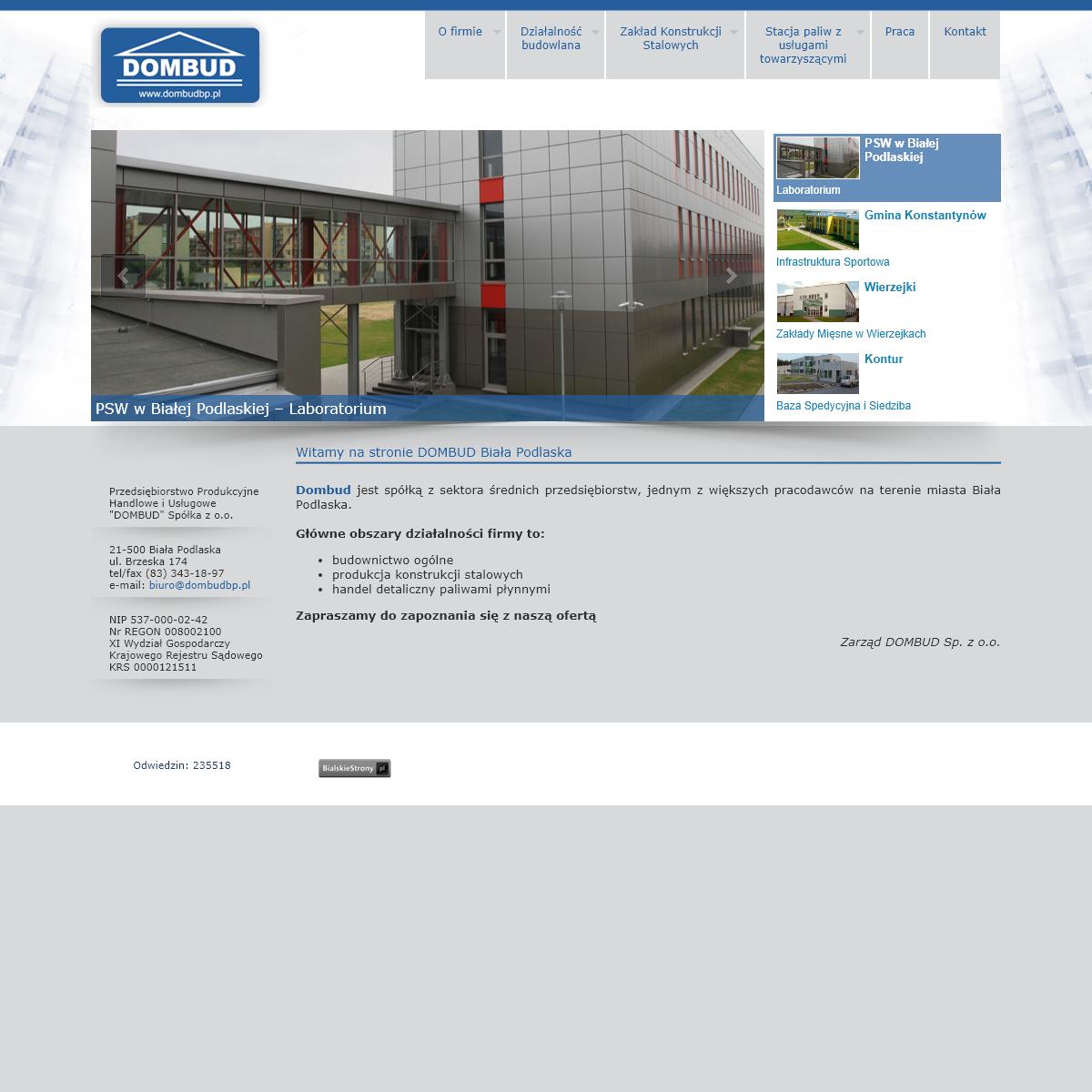 DOMBUD - Przedsiębiorstwo Produkcyjne, Handlowe i Usługowe, Konstrukcje Stalowe