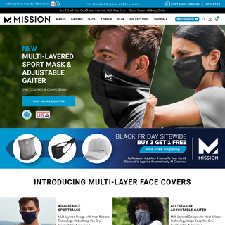 MISSION - Face Covers & Gear - Keep Covered & Comfortable