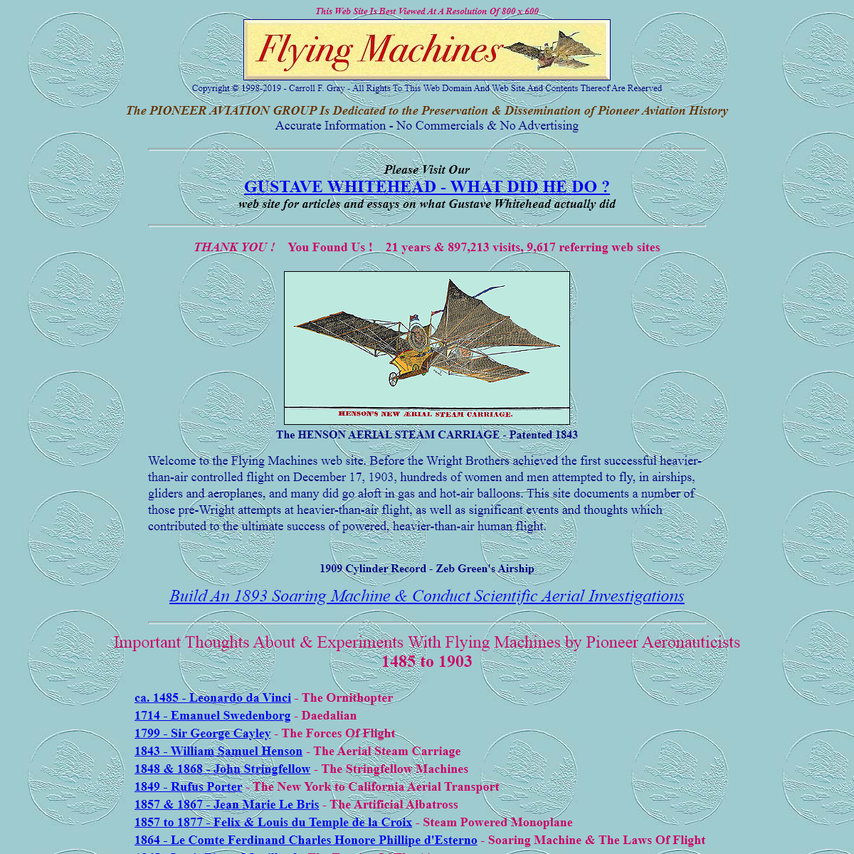 The FLYING MACHINES Web Site