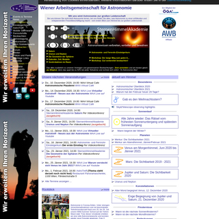 Wiener Arbeitsgemeinschaft fuer Astronomie (WAA)