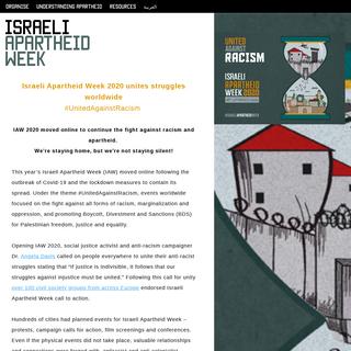 Israeli Apartheid Week - apartheidweek.org