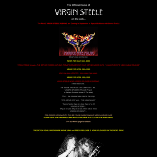 The Official Virgin Steele Homepage